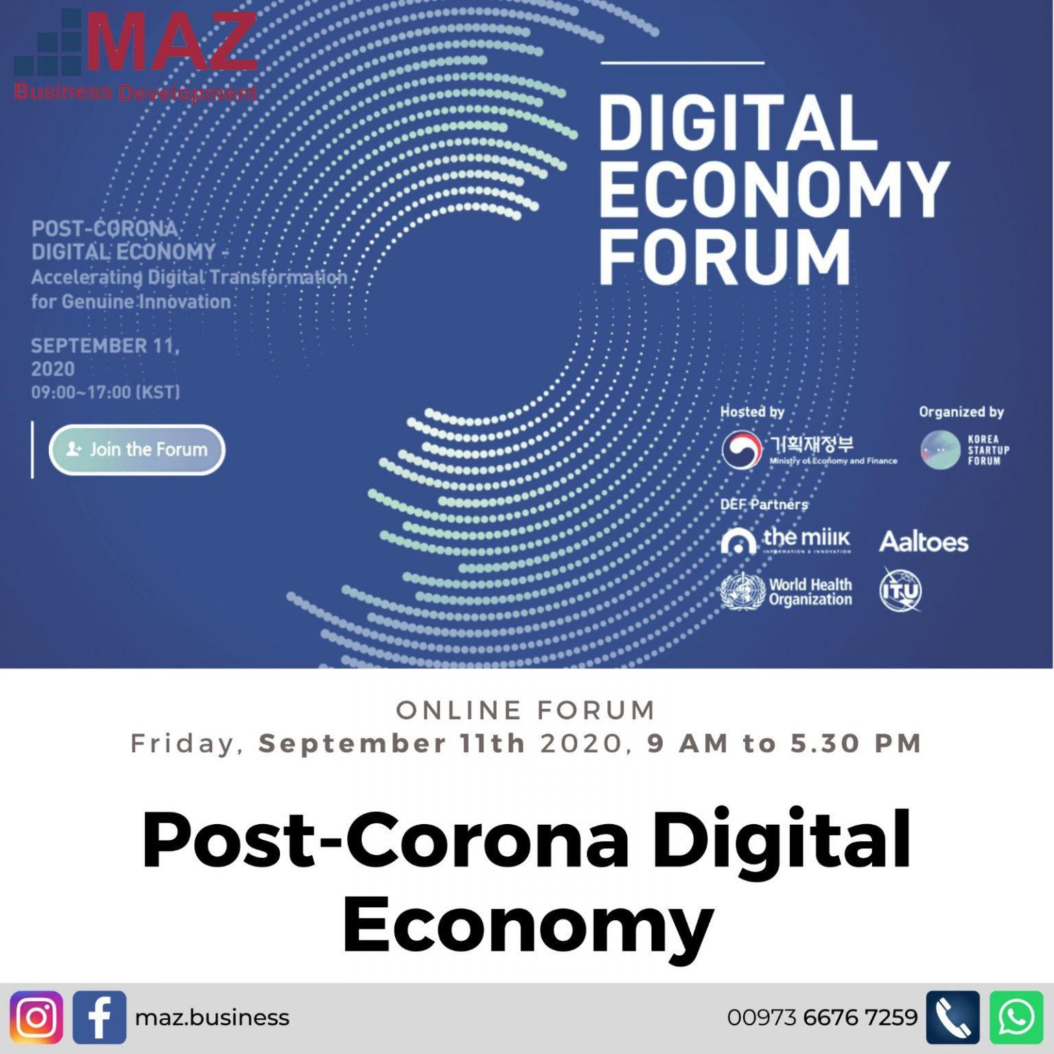 Post-Corona Digital Economy