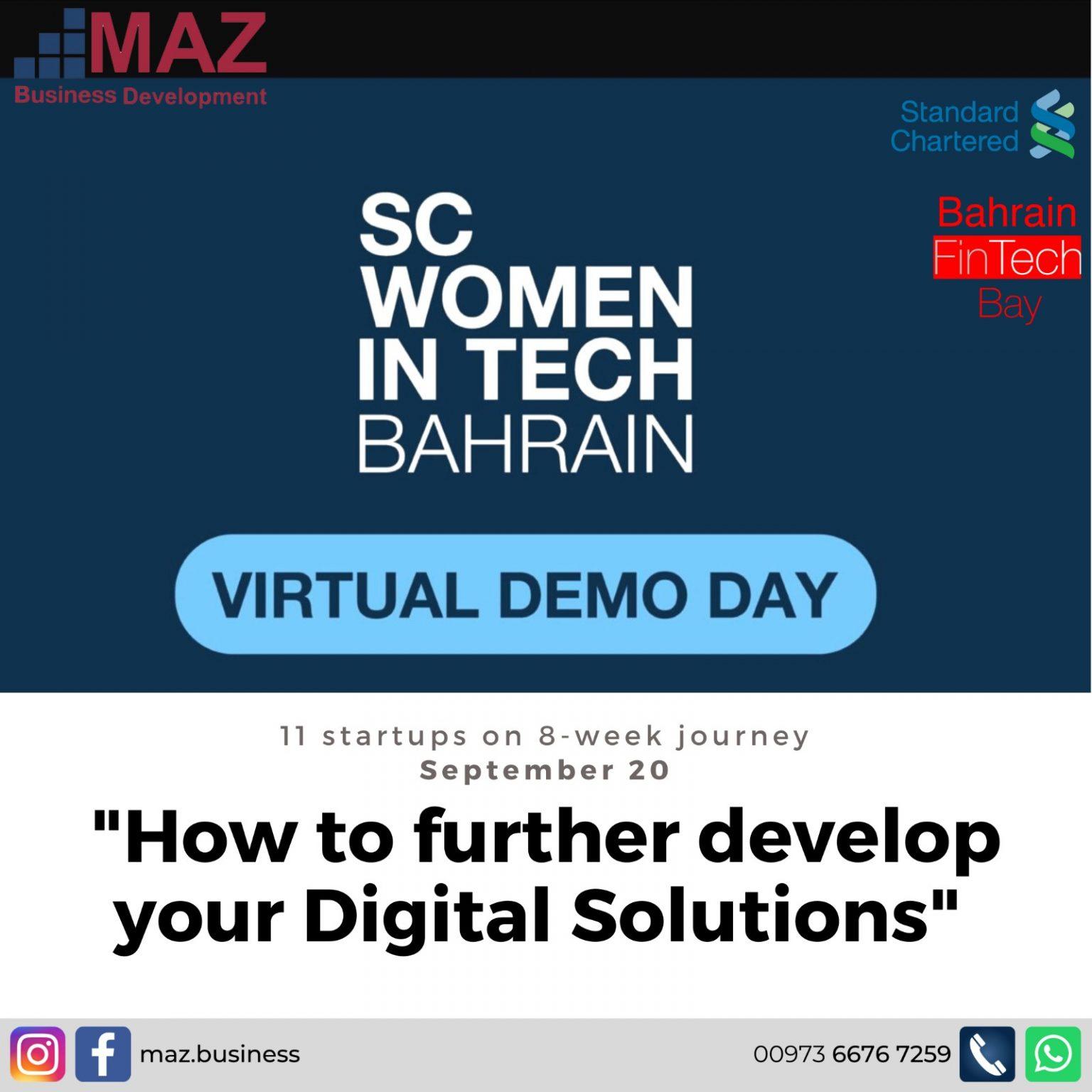 SC Women In Tech Bahrain Demo Day